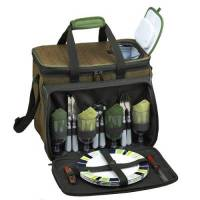 Forest Green Picnic Cooler for Four