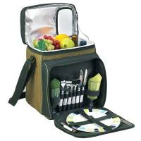 Forest Green Picnic Cooler for Two