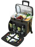 Forest Green Picnic Cooler on Wheels