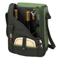 Forest Green Wine and Cheese Cooler Tote