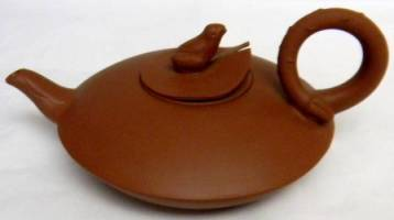 Frog Topped Yixing Teapot
