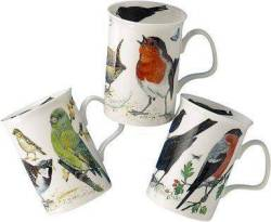 Three Garden Bird Mugs