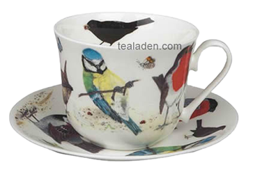 Garden Bird Breakfast Cup and Saucer