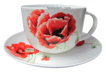 Garden Poppy Breakfast Cup and Saucer