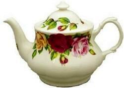 Garden Rose Six Cup Teapot