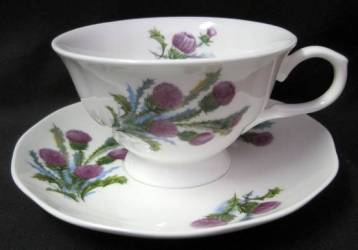 Glamis Thistle Cup and Saucer