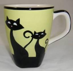 Green Cat Mug