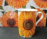 Six HM Sunflower Mugs