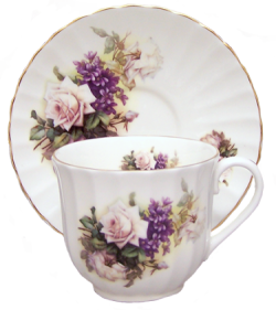 Two Honeysuckle Rose Cup Sets