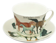 Horses Breakfast Cup and Saucer