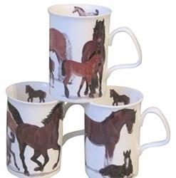 Horses Mugs Set of Three