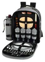 Houndstooth Picnic Backpack for Four