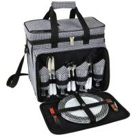 Houndstooth Picnic Cooler for Four