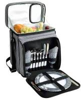 Houndstooth Picnic Cooler for Two