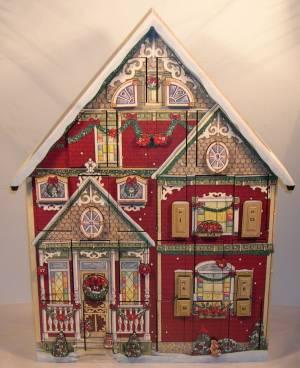 Wooden House Advent Calendar Christmas advent calendar house ...