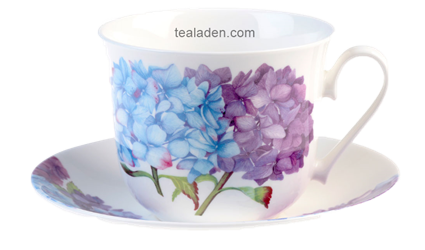 Hydrangea Breakfast Cup and Saucer