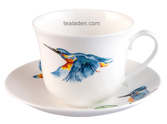 Kingfisher Breakfast Cup and Saucer