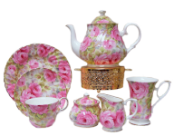 Lady Diana Chintz Fifteen Piece Tea Set