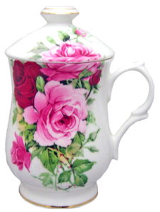 Two Rose Covered Mugs