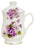 Two Violets Covered Mugs