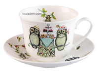 Life's a Hoot Breakfast Cup and Saucer