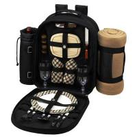 London Picnic Backpack with Blanket for Two