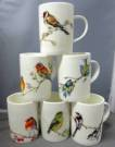 Six Lyric Birds Mugs