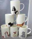 Six Lyric Dog Mugs