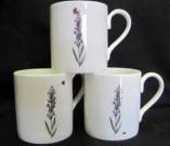 Three Lyric Lavender Mugs