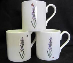 Three Lyric Lavender Mugs