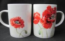 Four Lyric Poppy Mugs