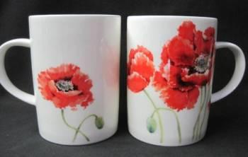 Four Lyric Poppy Mugs
