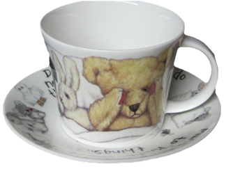 Monsters Breakfast Cup and Saucer