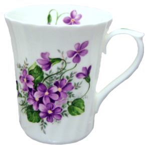 Three Violets Swirled Mugs