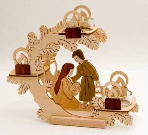 Nativity Scene Candle Holder