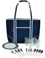 Navy Insulated Cooler Tote for Four