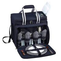 Navy Picnic Cooler for Four