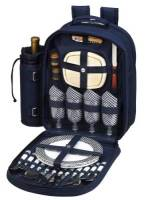 Navy Picnic Backpack for Four