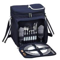 Navy Picnic Cooler for Two