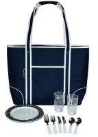 Navy Insulated Cooler Tote for Two