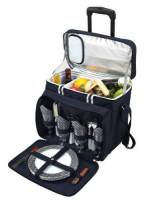 Navy Picnic Cooler on Wheels