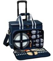 Navy Wheeled Picnic Cooler