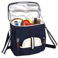 Navy Wine and Cheese Cooler Tote