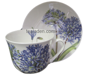 Agapanthus Breakfast Cup and Saucer