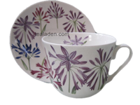 Old Agapanthus Breakfast Cup and Saucer