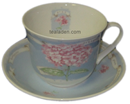 Old Hydrangea Breakfast Cup and Saucer