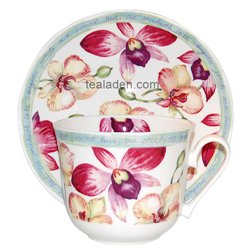 Orchid Garden Breakfast Cup and Saucer
