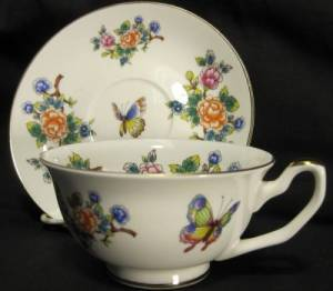 Oriental Garden Cup and Saucer