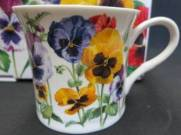 Six Princess Pansy Mugs