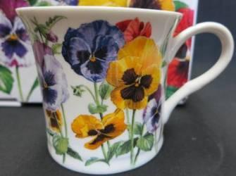Six Princess Pansy Mugs